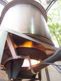煮沸在铝大罐 库存图片