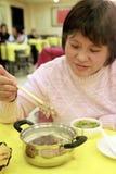 煮沸的中国即时羊肉 免版税库存照片