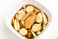 煮沸的中国意大利面食正方形 免版税图库摄影