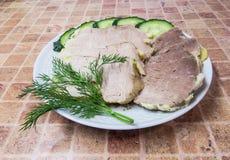煮沸的冷猪肉 库存照片