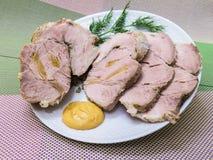 煮沸的冷猪肉 库存图片