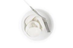 煮沸的卵蛋白被隔绝在白色 图库摄影