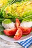 煮沸的圆白菜 图库摄影