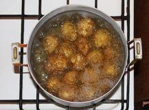 煮沸的土豆 免版税库存图片