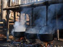 煮沸的大锅 库存图片