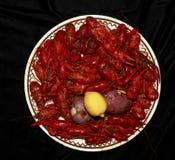 煮沸的小龙虾晚餐 图库摄影