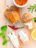 煮沸的扁平头的龙虾,龙虾摩顿湾臭虫,东方flath 库存图片