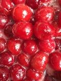 煮沸的樱桃果酱 免版税库存照片