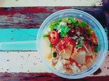 煮沸的猪肉泰国食物 免版税库存照片