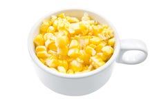 煮沸的玉米棒玉米 免版税图库摄影