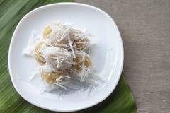 煮沸的甜点泰国传统点心 库存照片