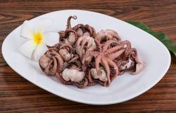 煮沸的章鱼 免版税图库摄影