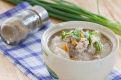 煮沸的米用猪肉 库存图片