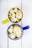 煮沸的花椰菜 库存图片