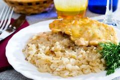 煮沸的莳萝丸子葱米 免版税图库摄影