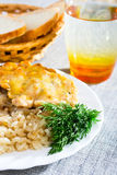 煮沸的莳萝丸子葱米 库存图片