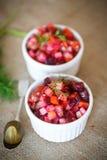 煮沸的菜沙拉用甜菜根 库存照片