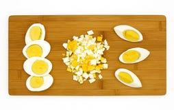 煮沸的蛋坚硬 库存照片