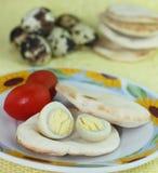 煮沸的蛋鹌鹑 免版税图库摄影