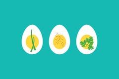 煮沸的蛋horderves 库存照片