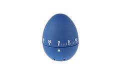 煮沸的鸡蛋的蓝色蛋定时器读秒 免版税图库摄影