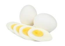 煮沸的鸡蛋 免版税库存照片