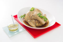 煮沸的鸡 中国烹调样式 中国食物新年度 免版税库存图片