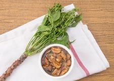 煮沸的Neem泰国食物用甜调味汁 库存照片