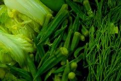 煮沸绿色菜 图库摄影