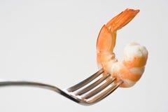 煮熟的可口新鲜的准备的虾 库存照片