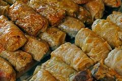 煮熟的圆白菜。传统罗马尼亚食物。 免版税图库摄影