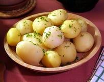 煮熟的土豆 图库摄影