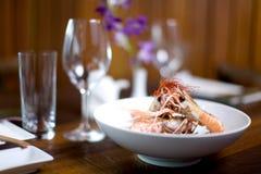 煮熟的大虾 图库摄影