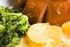 煮熟的家庭膳食 免版税库存照片