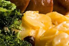 煮熟的家庭膳食 图库摄影