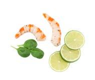 煮熟的带壳的虾 免版税库存图片