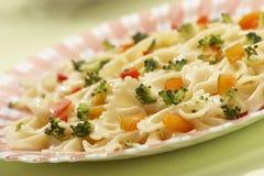煮熟的意大利面食 库存照片