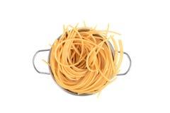 煮熟的意大利面食 免版税库存图片