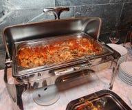 煮熟的意大利食物 烹调 图库摄影