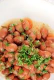 煮熟的扁豆 库存图片