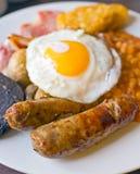 煮熟的早餐 图库摄影