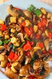 煮熟的混乱油炸物蔬菜健康概念。   免版税库存图片