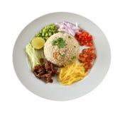 煮熟的混杂的米 免版税库存图片