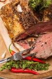煮熟的烤肋条肉 库存图片