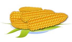 煮熟的玉米 免版税库存图片