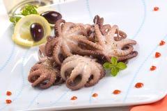 煮熟的章鱼 免版税库存照片
