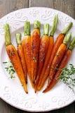 煮熟的红萝卜 免版税库存图片