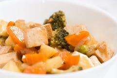 煮熟的菜和豆腐 图库摄影