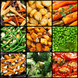 煮熟的菜盘的汇集 免版税库存图片
