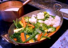 煮熟的蔬菜 库存图片